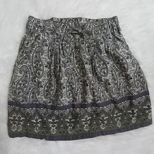 CONVERSE Green & Purple Paisley Skirt XS